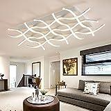 Lonfenner Postmodern geführtes rechteckiges minimalistisches Wohnzimmer Deckenlampe Atmosphäre Restaurant beleuchtet die kreativen Künste in der Studie Lampe,8 100 * 68cm