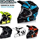 CASCHI Motocross Oneal Adulti Casco Moto Sportivi Crash Racing 2Series Slick Nuovo Stile Casco MX...