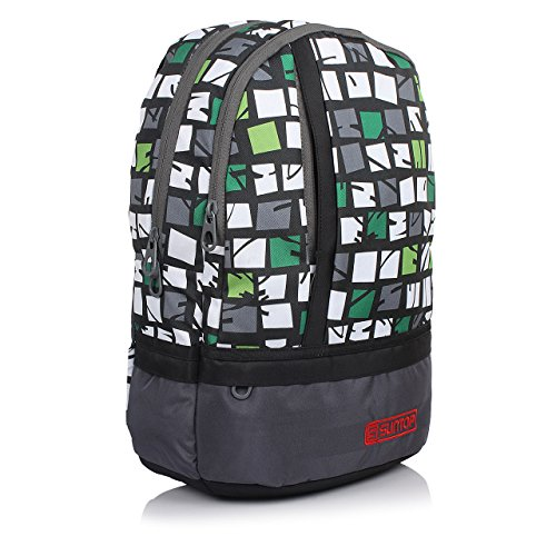 Suntop Grey Print Pixel Backpack