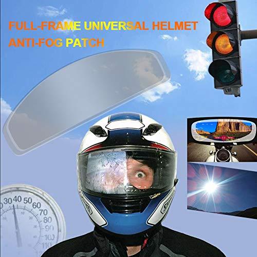 Gizayen Motorcycle Helmet Lens Anti Fog Film Ultra Clear Mist Visor Goggles Stickers, Universal Anti Fog Mist Visor Ultra Clear Helmet Insert Film for Fog City