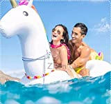Aufblasbare Einhorn, Pool-Einhorn, ZQL, Riesigen aufblasbaren Einhorn, Float-Spielzeug, Pool schwimmen, Pool Float-Halterungen, PVC-aufblasbarer Schwebebett für 2-3 Personen, für Open Space für Allgemein /Erwachsene /Kinder, 275 cm, bis 200kg - 4