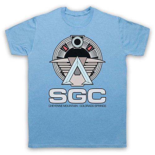 Inspiriert durch Stargate SGC Unofficial Herren T-Shirt Hellblau