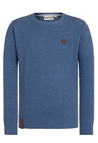 Naketano Male Knit Zapzarap Zip Zap V Blue Melange