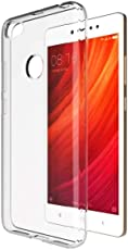 Amazon Brand - Solimo Redmi Y1 Mobile Cover (Soft & Flexible Back case), Transparent