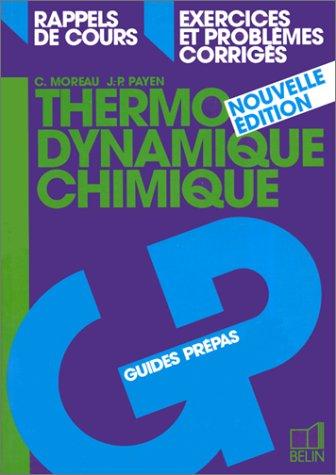 Thermodynamique chimique, nouvelle édition