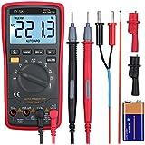 linkfor 6000cuentas, TRMS–Multímetro digital de rango automático y manual con pinzas de cocodrilo/medición de la temperatura/probador de voltaje de AC/voltaje Alerta/Amp/Ohm/V Multi Tester/Diodo con retroiluminación pantalla LCD