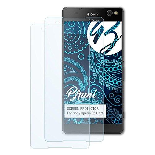 Bruni Schutzfolie für Sony Xperia C5 Ultra Folie, glasklare Bildschirmschutzfolie (2X)