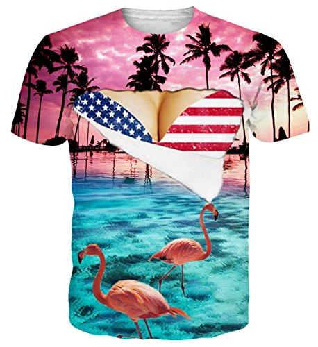 (Idgretim Teenager 3D Printed Tintenfisch Hawaii T-Shirts Plus Größe)
