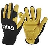 Anti-Vibration Gloves Leather Gel Padded Anti Vibe Power Tools Gardening