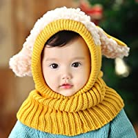 Autunno inverno caldo ispessimento lana due pezzi cappello sciarpa per bambini , 3
