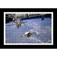 Puzzle Style (pre-assemblata) Wall print di astronave Drago Iss pianeta