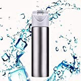 Menzy Thermos Water Bottle 600 Ml, Double-Wall Thermos Flask, Vacuum Insulated Stainless Steel