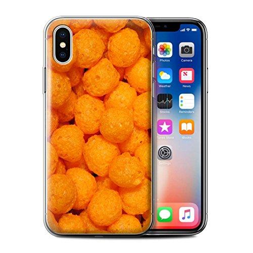 Stuff4 Gel TPU Hülle / Case für Apple iPhone X/10 / Doritos Muster / Imbiss Kollektion Cheese Puffs