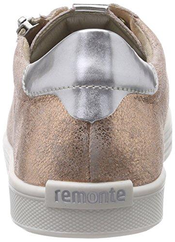 Remonte D0001, Baskets Basses Femme Rose (kupfer/argento / 32)