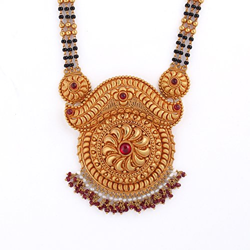 WHP Jewellers 22k (916) Yellow Gold and Ruby Mangalsutra Necklace