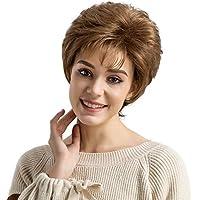Peluca resistente al calor para mujer o dama, pelo corto ondulado - Pelucas Las pelucas
