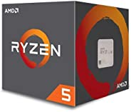 AMD YD150XBBAEBOX Ryzen 5 1500X CPU Processor with Wraith Spire Cooler 4 Cores/8 threads Unlocked Thermal Solution - Black