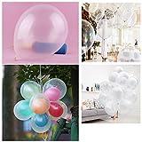 NUOLUX Luftballons, 12-Zoll Helium Latex Ballons, Transparent, Luftballons für Hochzeit Party Geburtstag-50 Stück