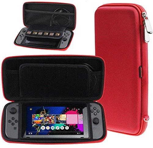 NAVITECH–niños casos rojo Neon Red Nintendo Switch