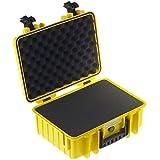 B&W International 4000/Y/SI Valise antichoc/étanche/ultrarésistante avec Insert mousse prédécoupé pour Appareil photo Jaune