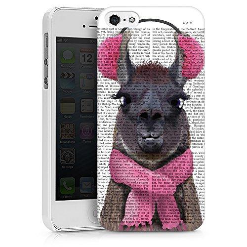 artboxONE Premium-Handyhülle iPhone 6 Plus / 6s Plus Lady Lama - Tiere - Smartphone Case mit Kunstdruck hochwertiges Handycover kreatives Design Cover von FabFunky Hard Case weiß