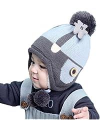 Tpulling Bonnet Bebe, Bébé garçons Filles Beanie Ours Coton Chapeau Enfants  Imprimer Chapeaux à Tricoter 410a4c5908a