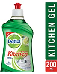 Dettol Healthy Kitchen Dish and Slab Gel, Lime Splash- 200 ml