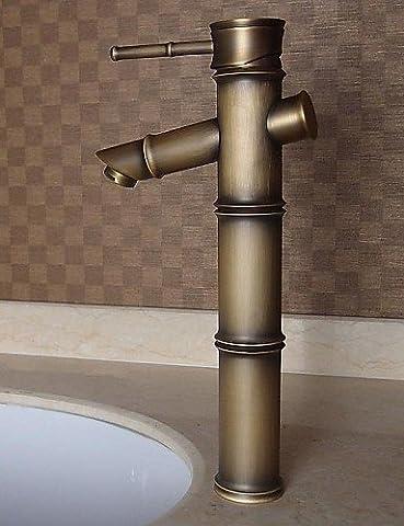 khskx Messing antik Finish Waschbecken Wasserhahn–Bambus Form Design