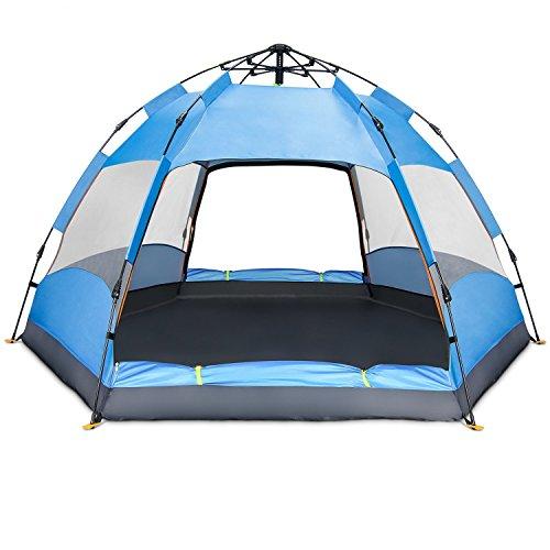 Datechip Automatisches Campingzelt für 3-5 Personen – Instant Pop-Up-Familie,...