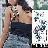 Modeganqing 5 Pezzi di trasferimento dell'Acqua Bellissimi Fiori Adesivi per Tatuaggi Flash Modello Totem Impermeabile o 12 24X13,8 cm