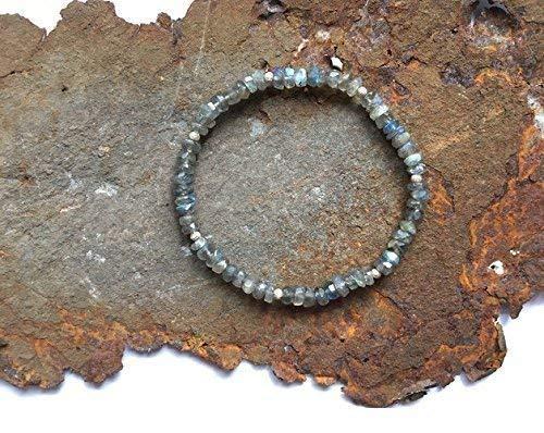 Labradorit Armband mit 925er Silbelementen