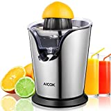 Aicok Citrus Press Electric Juicer 100W Powerful orange Juicer, Double Size Cones, Professional