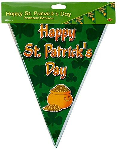 Beistle Happy St Patrick 's Day Pennant Banner Party Zubehör (1Zählen) (1/Pkg)