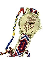 yistu pulsera de la amistad, Vintage, diseño de atrapasueños relojes mujeres Trenza Vestido Relojes