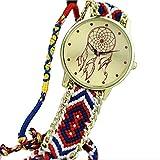 yistu pulsera de la amistad, Vintage, diseño de atrapasueños relojes mujeres Trenza Vestido Relojes Varios colores G Talla:Size unique