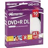Memorex 8x DVD+R Double Layer 8.5GB DVD+R DL 10pieza(s) - DVD+RW vírgenes (8,5 GB, DVD+R DL, 10 pieza(s), 240 min)