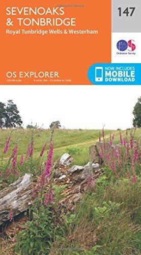 OS Explorer Map (147) Sevenoaks and Tonbridge by Ordnance Survey (2015-09-16)