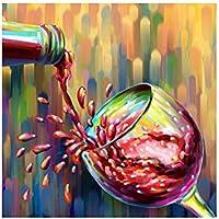 YYH Bicchiere di vino rosso moderno decorativo HD tela pittura dipinti ad olio