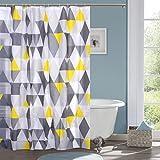 #4: Ininsight solutions® PVC Printed Bathroom Shower Curtain 7 feet with 12 Hooks 180*180 cm (SC-12)