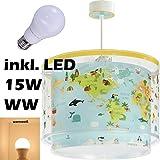 LED Lampe Kinderzimmer Decke Pendelleuchte baby World 40722 Warmweiß 1750lm Mädchen & Jungen