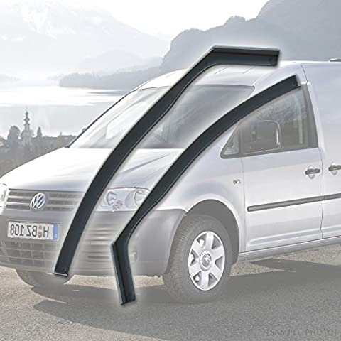 VW Caddy (2004 onwards 2DR) Wind Deflectors Rain Wind Window Deflectors