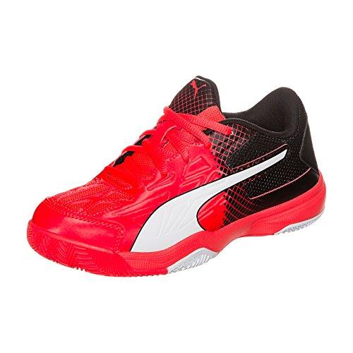 Puma Veloz Indoor Iii Jr, Chaussures de Fitness Mixte Enfant neonrot / schwarz