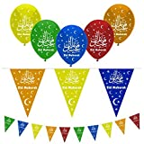 Eid Mubarak Ramadan Celebration Dekoration Luftballons & Wimpelkette--