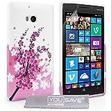 Yousave Accessories Nokia Lumia 930 Hülle Silikon Gel Schutzhülle rosa