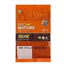 Pro Nature 100% Organic Red Chilli Powder, Hot, 500g