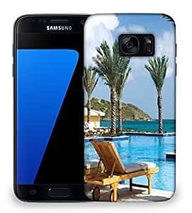 Snoogg Tree In The Pool Designer Protective Phone Back Case Cover For Samsung Galaxy S7