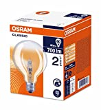 Osram Classic Globe Halogen-Lampe, E27-Sockel, dimmbar, 46 Watt - Ersatz für 60 Watt, Warmweiß - 2700K