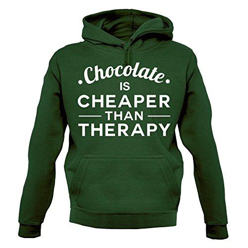 chocolate-cheaper-than-therapy-unisex-sweat-pull-vert-fonc-m