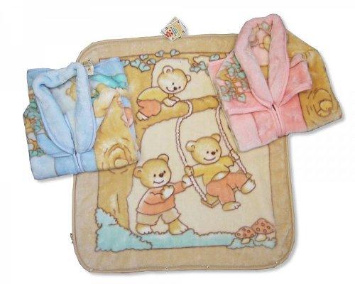Polaire à capuche cadeau pour bébé - Bleu