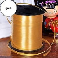 Ruban ballon, Woopower 1rouleau 228,6m Ruban coloré en plastique pour emballage cadeau,attaches, décor de mariage ou de fête, doré, free size